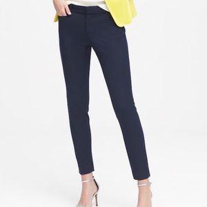 Banana Republic Navy Cropped Skinny Sloan Pants